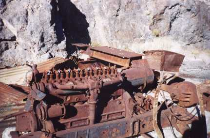this engine, transmission and rear end were originally a car or truck